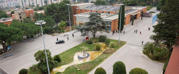 Una vista del campus Mundet de la UB, on s'imparteix Educació Infantil + Educació Primària.